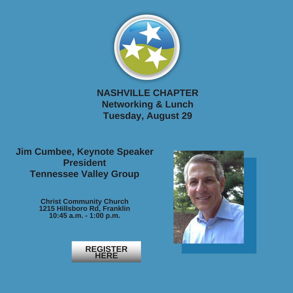 TN Christian Chamber of Commerce Nashville August Luncheon Jim Cumbee