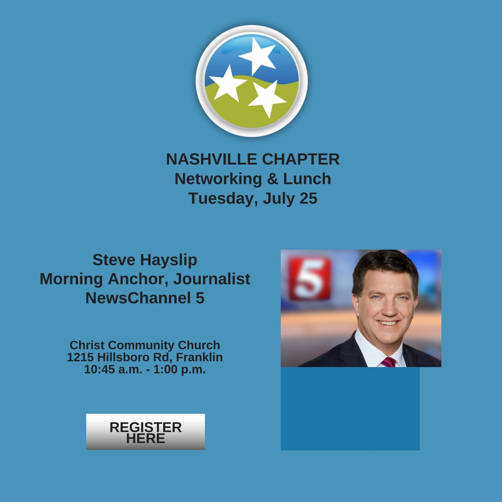 TN Christian Chamber of Commerce Nashville July Luncheon Steve Hayslip